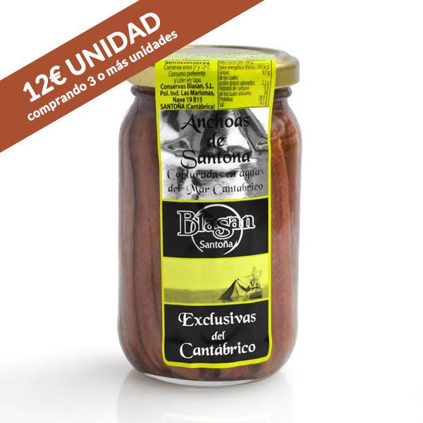 Anchoas del Cantábrico 250g- Conservas Blasan - Santoña